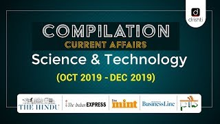 Compilation Current Affairs - Science & Technology (Oct-Dec 2019)