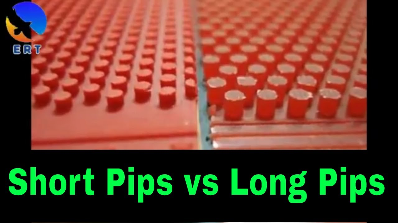 Table Tennis Short Pips Vs Long Pips Youtube