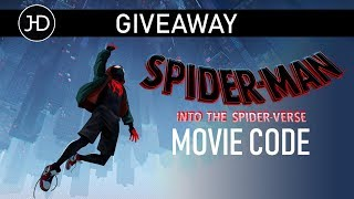 GIVEAWAY - Spider-Man: Into the Spider-Verse digital movie code