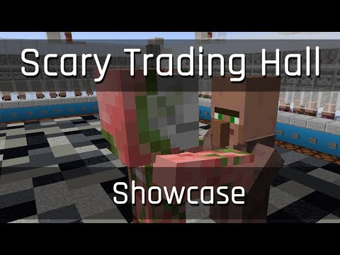 Showcase: The Scary Trading Hall | Minecraft