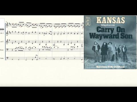 Carry On My Wayward Son for Brass Quintet Sheet Music