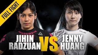 ONE: Full Fight | Jihin Radzuan vs. Jenny Huang | Purr-fect Performance | December 2018