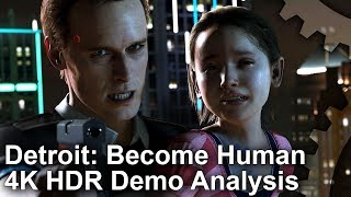 [4K HDR] Detroit: Become Human PS4 Pro/ PS4 Analysis + Performance Tests [PSN Demo]