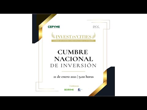 CUMBRE NACIONAL DE INVERSIÓN 'INVEST IN CITIES 2020'