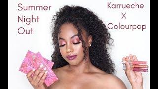 COLOURPOP X KARRUECHE FEM ROSA MAKEUP TUTORIAL + REVIEW & SWATCHES | BLAIRE ANDREWS