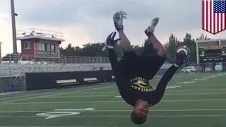 بالفيديو : المراهق ماركو ويلسن يلتقط الكرة بحركة شقلبة هوائية