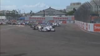 IndyCar Series 2017. Firestone Grand Prix of St. Petersburg. 1st Lap Crashes