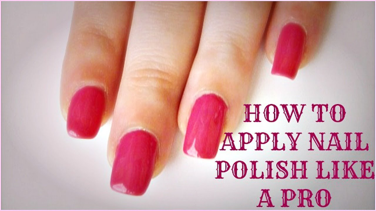 How to Apply Nail Polish Neatly