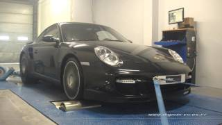 Porsche 997 3.6 turbo 480cv Reprogrammation Moteur @ 542cv Digiservices Paris 77 Dyno