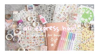 HUGE aliexpress cute stationery haul for bujo