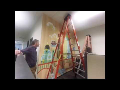 Murals Your Way Prepasted Wallpaper Installation Youtube