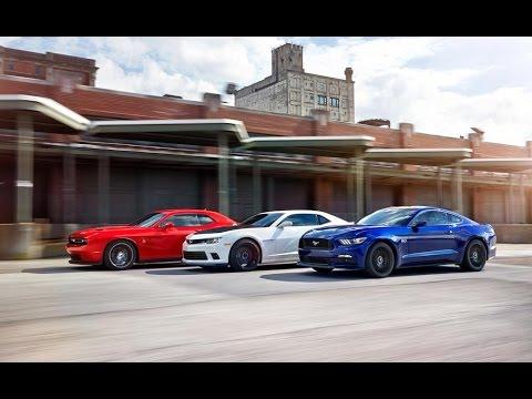 Ford Mustang GT vs Chevrolet Camaro SS vs Dodge Challenger RT