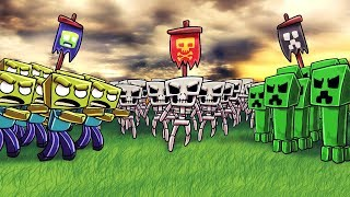 Minecraft - ZOMBIES vs CREEPERS vs SKELETONS!