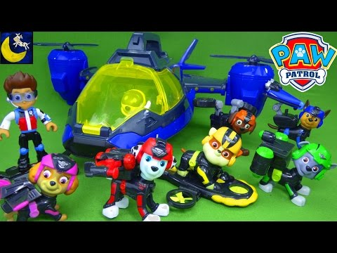 Thumbnail: Funny Toy Stories for Kids Paw Patrol Mission Paw Toys Air Patroller Air Rescue Chase Ryder Marshall