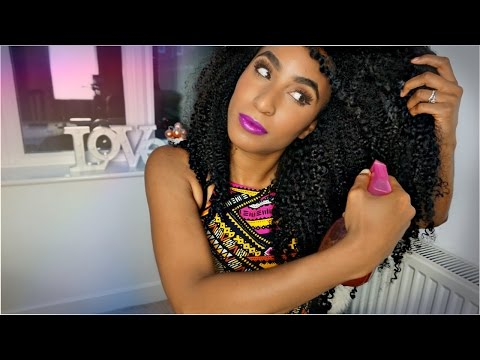 Curly Routine | TEA and protective styling for max hair growth