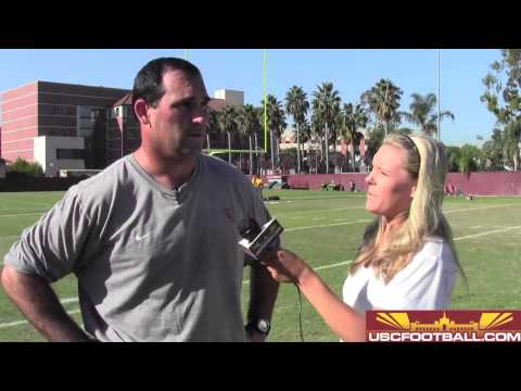 USC offensive line coach James Cregg