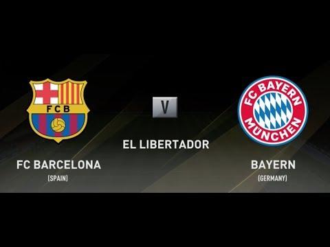 Fifa 18 FC Barcelona vs Bayern Munich Xbox One S PS4 Full Match Gameplay (1080 - HD)