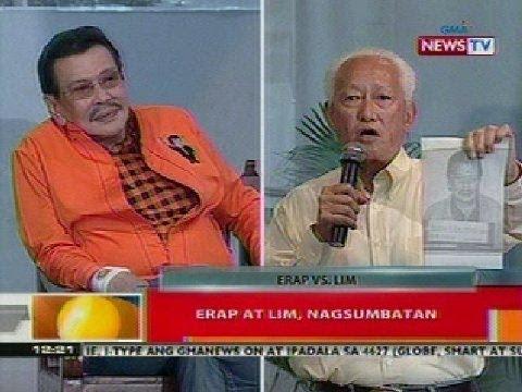 BT: Dating Pangulong Estrada at Mayor Lim, nagpalitan ng patutsada sa isang forum