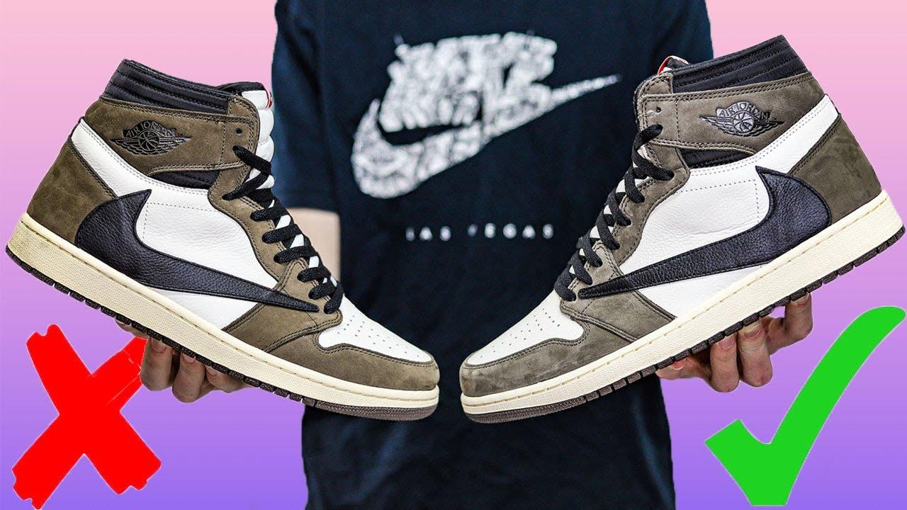TRAVIS SCOTT Air Jordan 1 High (REAL vs FAKE)