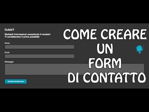 TUTORIAL - Come Creare Un Form Di Contatto In HTML E CSS (Responsive) | FoglioDiStile.com