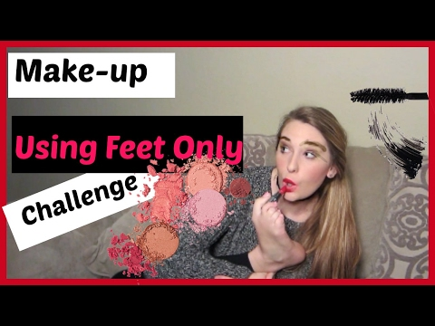 Full Face Of Make-up Only Using My Feet! Challenge👣