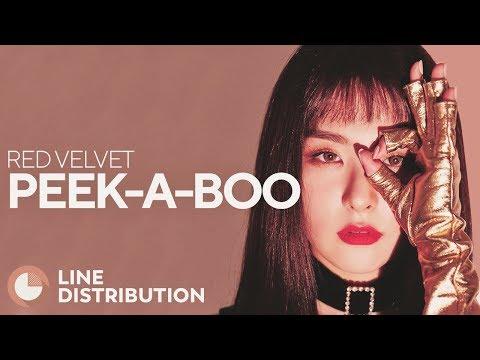 RED VELVET - Peek-A-Boo (Line Distribution)