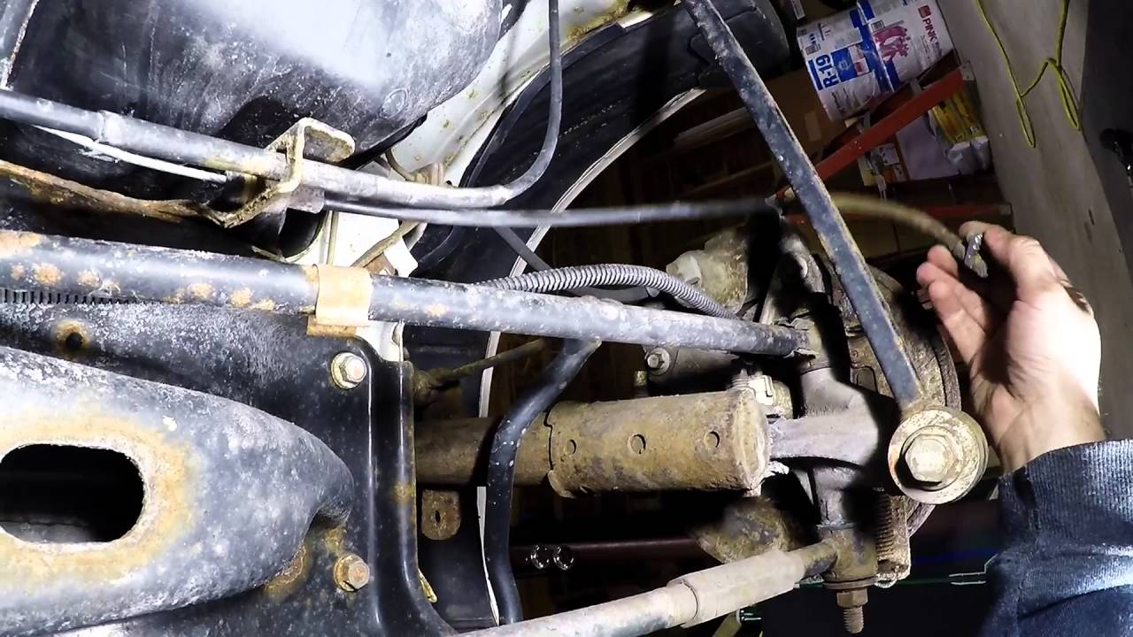 hight resolution of impala emergency brake cable repair