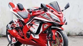 Motor Trend Modifikasi   Video Modifikasi Motor Kawasaki Ninja 250 cc Airbrush Terbaru
