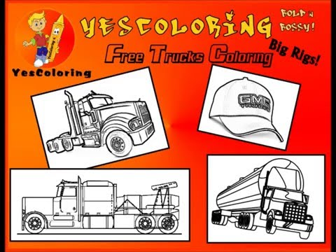 Stone Cold Big Rig Trucks Coloring Pages