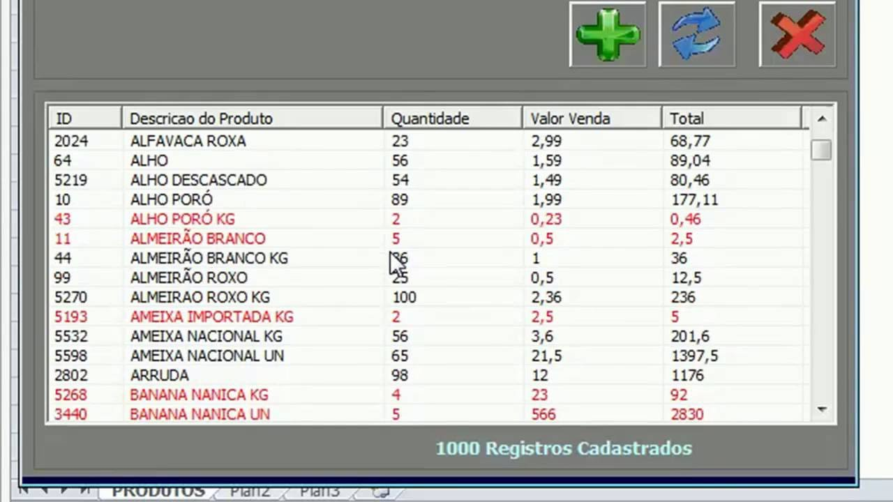 LISTVIEW EXCEL VBA COLORIR LINHAS COM CRITERIOS