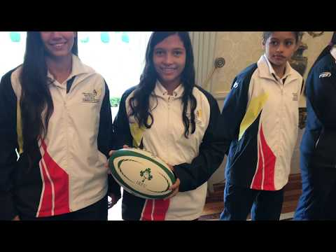 President receives visiting Colombian Rugby Team