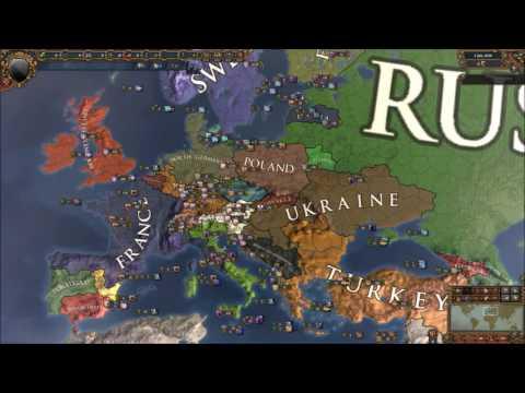 Europa Universalis 4, Modern Europe, Custom Nations Timelapse [Extended Timeline]