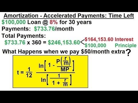 Business Math - Finance Math (28 of 30) Amortization - Accelerated