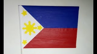 HOW TO MAKE A PHILIPPINE FLAG | DIY SCHOOL PROJECT | PHILIPPINE FLAG MAKING PART 2