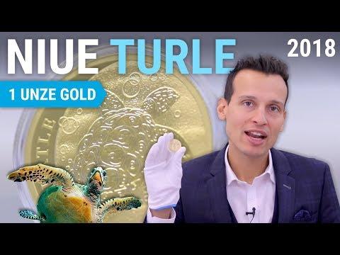 1 Unze Gold - Niue Turtle (Schildkröte) 2018 - Nur 10.000 Stück