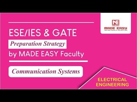 ESE/IES & GATE  Preparation Strategy Of Communication Systems