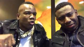 SHBBA DJAKOUT #1 AND PIPO STANIS KLASS HANGING OUT AFETER KLASS VS DJAKOUT #1 IN NEW YORK CITY