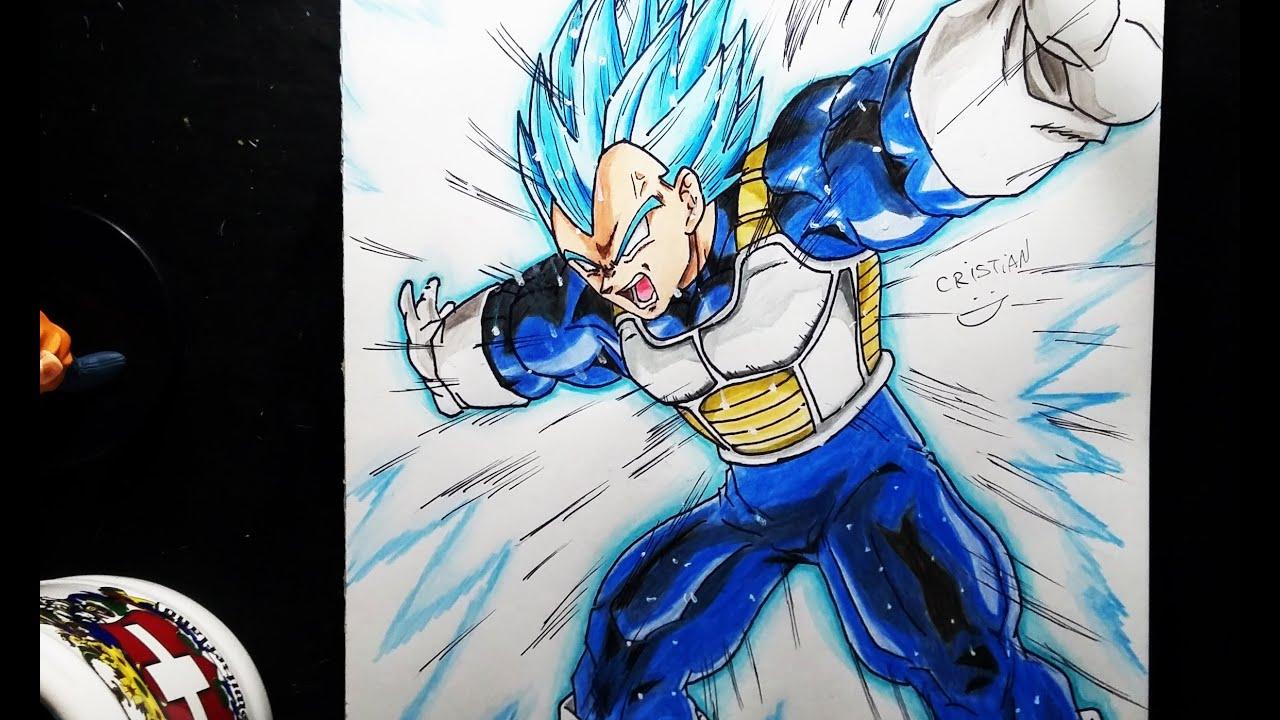 Fotos De Vegeta Color Azul: Dibujando A VEGETA SSGSS (Dios Azul)