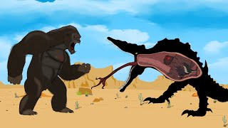 King Kong vs Rescue Godzilla in ATTACK ON SKULLCRAWLER: Size Comparison | Godzilla Cartoon Animation