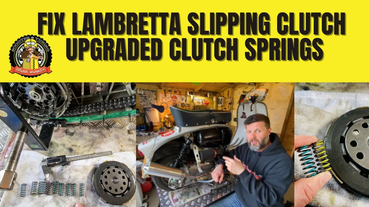 Fixing a Lambretta slipping clutch - how to fit upgraded clutch springs...