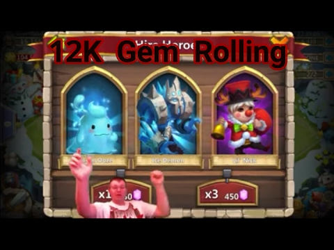 First Time Purchase Rolling 12K Gems For New Heroes - Castle Clash