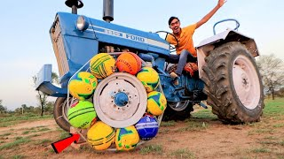Crazy Football Tyre In Tractor | Will It Work?