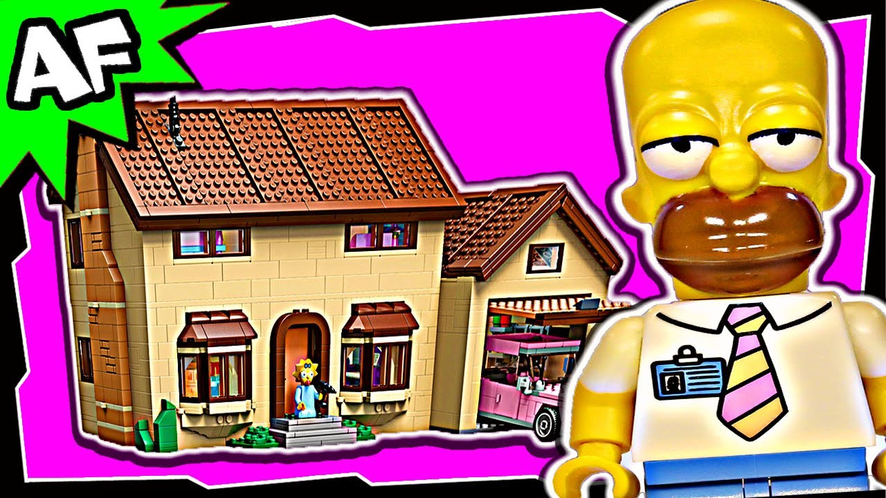 simpsons lego house instructions