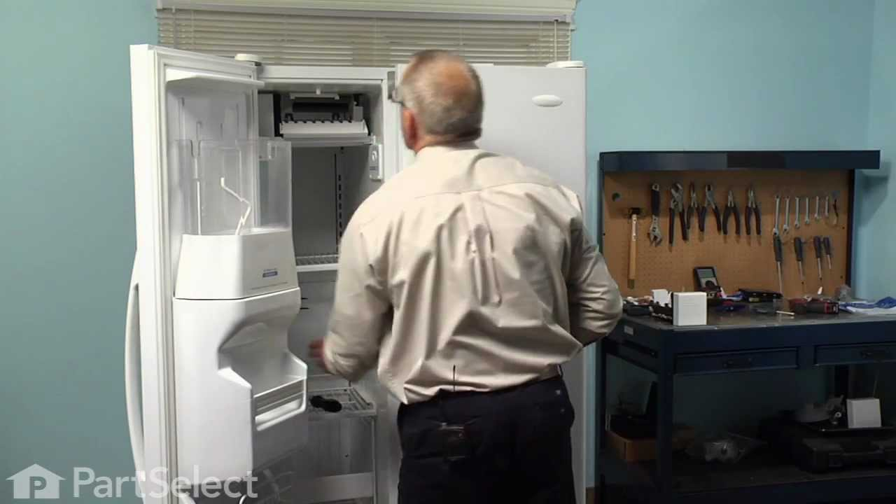 hight resolution of refrigerator repair replacing the ice maker assembly whirlpool part 2198597 youtube
