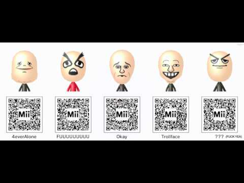 3DS mii maker QR codes | FunnyCat TV