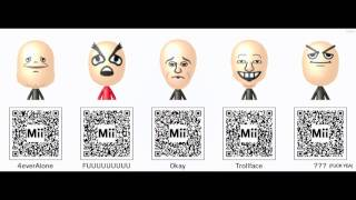 Nintendo 3DS Mii QR Codes Pack 3 - Memes and More