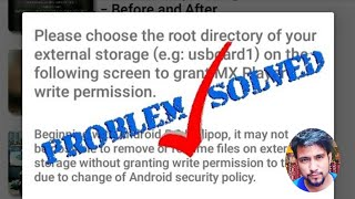Mx player video delete problem solved||