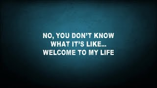 Simple Plan - Welcome To My Life (lyrics)