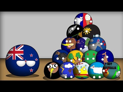 Countryballs Animated | New Zealand's Flag