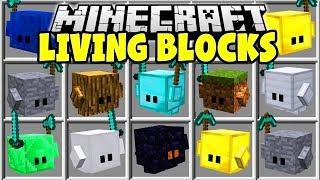 Minecraft LIVING BLOCKS MOD   CRAFT LIVING MINECRAFT BLOCKS TO FIGHT FOR YOU!!